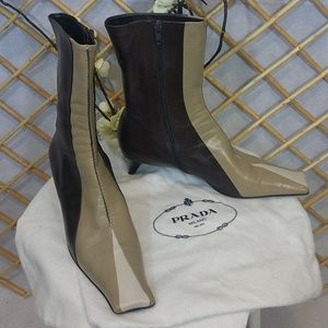 Three Tone Prada Booties